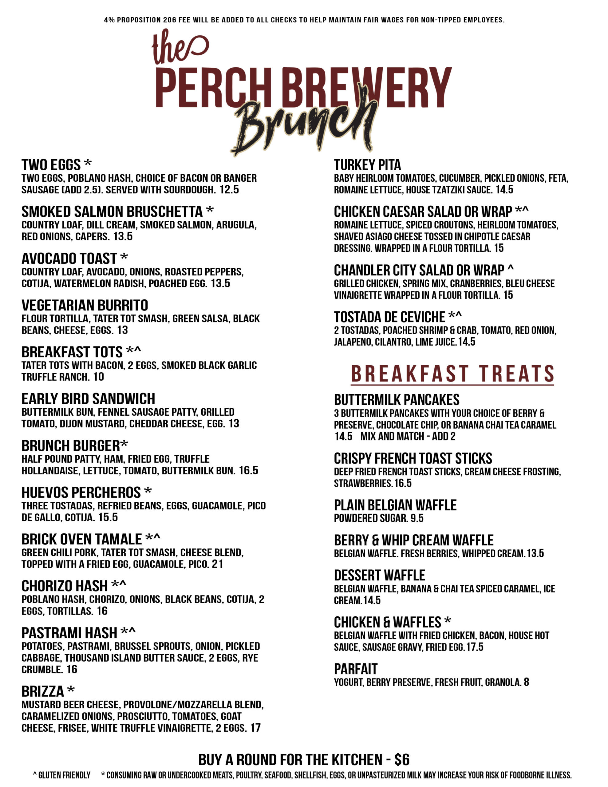 SpringSummer2021 Brunch Menu